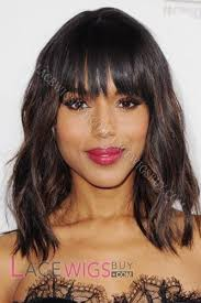body wave hair with bangs kerry washington 12 body wave 4 100 remy human hair wig