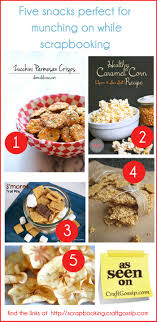 scrapbooking cuisine five snacks for munching on while scrapbooking scrap booking
