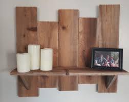 Rustic Wood Bookshelves by Cedar Shelf Etsy