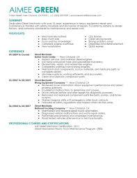 Automotive Technician Resume Skills Wonderful Diesel Mechanic Resume 12 Automotive Mechanic Resume