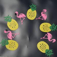 10pcs set flamingo pineapple hawaiian garland banner birthday