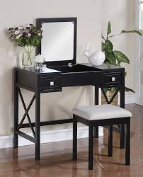 Vanity Desks The Perfect Black Vanity Table And Bench
