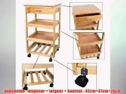 étagère à roulettes cuisine meuble rangement cuisine roulant en bois de pin desserte à roulettes