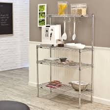 Bakers Racks For Kitchens Homcom 47 In Bakers Rack Kitchen Storage Stand With Cutting Board