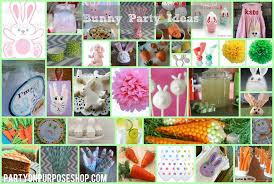 Easter Party Table Decorations by Bunny Party Ideas Party On Purpose