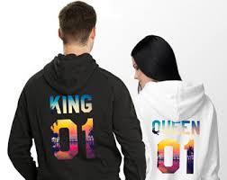 king queen hoodie etsy
