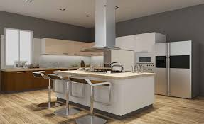 Kitchen Urban - urban casa uci 108 island modular kitchen in hi gloss laminate