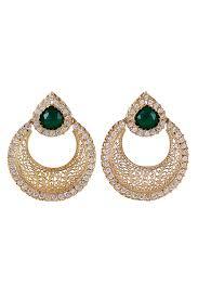 chandbali earrings buy online filigree chand bali earrings by indian designer rahul popli