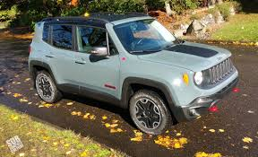jeep renegade light blue review 2015 jeep renegade trailhawk subcompact culture the