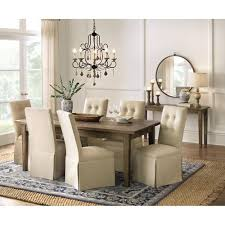 home decorators collection parquetry french grey extendable dining