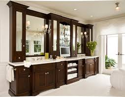 bathroom vanity bathroom beach style with dark wood cabinetry