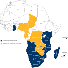 Africa On Map by Geographic Footprint Franki Africa