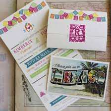 Seal And Send Invitations Tropical Seal And Send Wedding Invitation Mexico Wedding Invitation