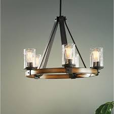 kichler outdoor lighting lowes shop kichler lighting barrington 3 light distressed black and wood