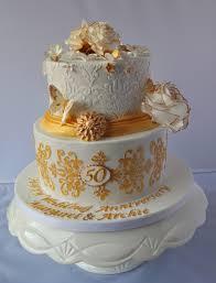 Golden Wedding Anniversary Cake Cakecentral Com