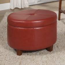inspiring red storage ottoman with viv rae salvatore large round