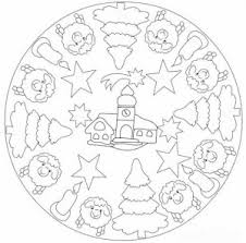 christmas mandala coloring kids crafts worksheets