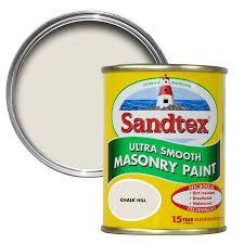 sandtex chalk hill brown smooth matt masonry paint 0 15l tester