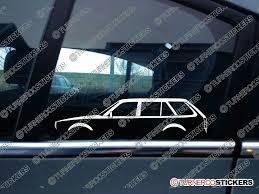 Civic 1980 2x Classic Car Silhouette Sticker Honda Civic Station Wagon 1980