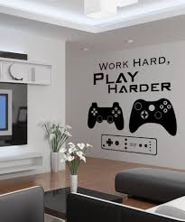 vinyl wall decal sticker work hard play harder 1323