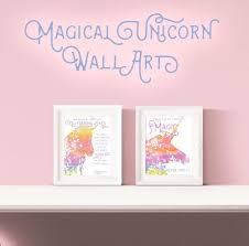 magical unicorn free printable wall art diycandy you love this unicorn themed printable wall art with quotes perfect for nursery