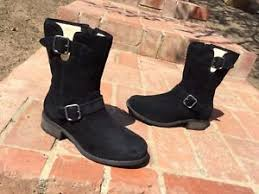 s ugg australia chaney boots 200 ugg australia chaney black suede uggpure 1006042 moto mid