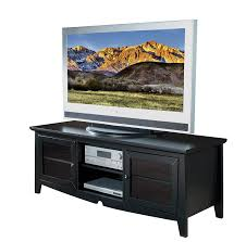 tv stand glass doors amazon com office star 60 inch solid wood and veneer tv stand