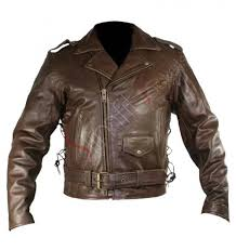 mens leather moto jacket vintage brown leather motorcycle jacket