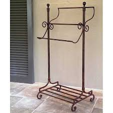 Free Standing Towel Stands For Bathrooms Abbey Road Freestanding Wrought Iron Towel Rack