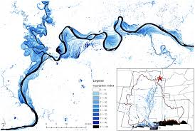 assessment of floodplain inundation frequency in the gulf coastal