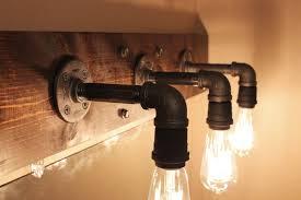 industrial pipe light fixture diy industrial bathroom light fixtures lighting edison bulbs and