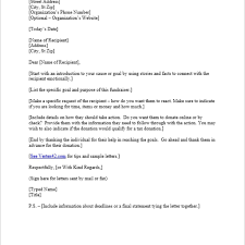 Fundraising Letter Sles For Donations Free Request For Donation Letter Template Sle Donation