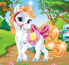 pony sparkling nails pony games