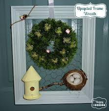 4f craftin u0027 upcycled vintage frame wreath for spring the happy