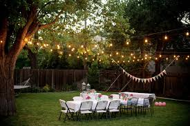 String Lights Patio Ideas by Backyard Party Lights Outdoor Furniture Design And Ideas