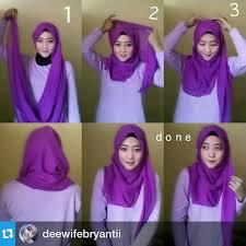 tutorial memakai jilbab paris yang simple cara memakai jilbab paris simple