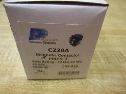 packard c230a 2 pole coil contactor 30 amp 24v motor contactors