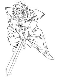 dbz coloring pages kids coloring