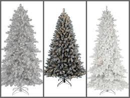 artificial flocked christmas trees christmas lights decoration