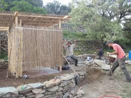 Outdoor Kitchen Construction Outdoor Kitchen And Showers U2013 Tinos Eco Lodge