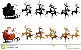 reindeer pulling sleigh clipart clipartxtras