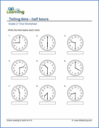best ideas of telling time to the half hour worksheets in cover
