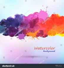 watercolor painted vector background stock vector 215892112