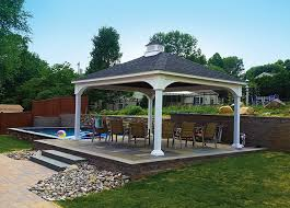 Pre Built Pergola by Gazebo Pricing Wood And Vinyl Options Amish Country Gazebos