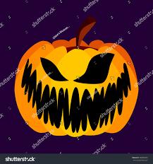vector orange festive scary halloween pumpkin stock vector