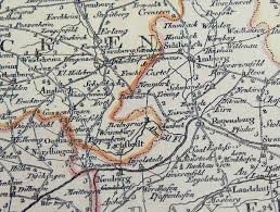 Stadtplan Bad Kissingen Hist Karte Deutschland Germania 1795 Plano Postreisekarte