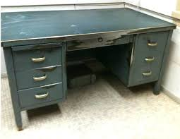 Vintage Metal Office Desk Desk Metal Office Desk Vintage Office Desk Metal Wood Top Metal
