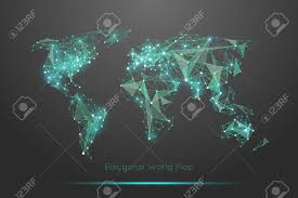 world map stock image polygonal world map royalty free cliparts vectors and stock
