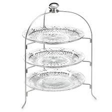 Bed Bath And Beyond Dish Rack Godinger Dublin Crystal 3 Tier Serving Rack Bed Bath U0026 Beyond