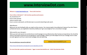 Govt Jobs Resume Upload by How To Start A Job Search How To Get A Job In India Youtube